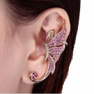 Women's Crystal Butterfly Wings Ear Clip Clamp Earring Fashion New Jewelry-iii