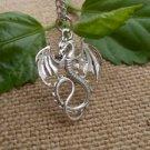 NEW HOT FASHION TIBET SILVER RETRO GOTHIC STYLE Dragon necklace GIFT -O