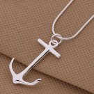 FASHION Silver Charms Pirate Captain Anchor Pendant For Necklace-J