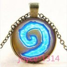NEW World of Warcraft Hearthstone Jewelry Glass Dome Pendant Bronze Necklace-J19