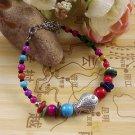 FISH CHARM Women's Fashion Jewelry Gift Tibet jade turquoise bead bracelet F-13