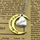 FASHION Gift brother I Love You To The Moon and Back Heart Necklace HOT -V