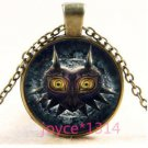 NEW ANIME COSPLAY Legend of Zelda Cabochon bronze Glass Chain Pendant Necklace-O