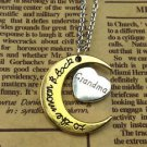"""NEW Grandma """"I Love You To The Moon and Back"""" Heart GOLDEN MOON Necklace GIFT-O"""