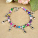 HANDMADE NEW MULTICOLOR Fashion Jewelry Tibet jade turquoise bead bracelet-Q
