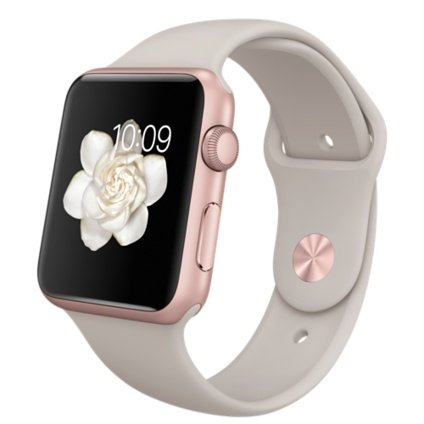Apple Smartwatch -Rose Gold Aluminum Case with Stone Sport Band