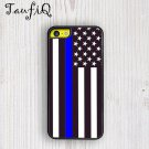 A Thin Blue Line USA American Flag iphone 6 case, iPhone 6 cover, iPhone 6 accsesories