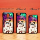Cute Cat Astronaut in Galaxy Nebula for iphone 6 case, iPhone 5 case, iPhone 7 case, iphone 4 case
