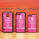 Keep Calm and Go Shopping Pink for iphone 6 case, iPhone 5 case, iPhone 7 case, iphone 4 case