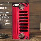 Red Jeep Wrangler for iphone 6 case, iPhone 5 case, iPhone 7 case, iphone 4 case