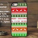 aztec Merry Christmas Animal for iphone 6 case, iPhone 5 case, iPhone 7 case, iphone 4 case
