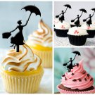 Cp40 cupcake toppers Mary Poppins Package : 10 pcs