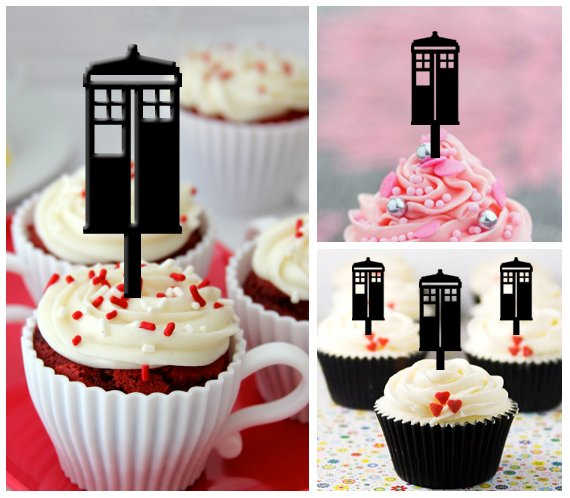 Cp29 cupcake toppers doctor who Package : 10 pcs