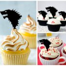 Cp49 cupcake toppers game of thrones Package : 10 pcs