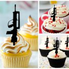 Cp68 cupcake toppers gun violence Package : 10 pcs