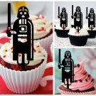 Cp101 cupcake toppers darth vader star wars Package : 10 pcs
