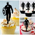 Cp191 cupcake toppers captain america Package : 10 pcs