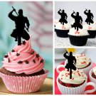 Cp200 cupcake toppers ninja japanese Package : 10 pcs