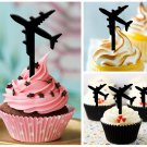 Cp209 cupcake toppers airplane Package : 10 pcs