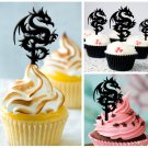 Cp225 cupcake toppers dragon tattoo Package : 10 pcs