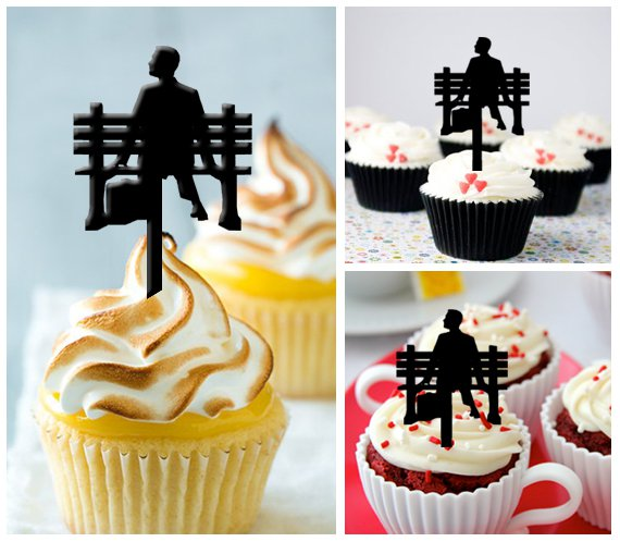 Cp235 cupcake toppers forrest gump Package : 10 pcs