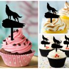 Cp275 cupcake toppers wolf Package : 10 pcs