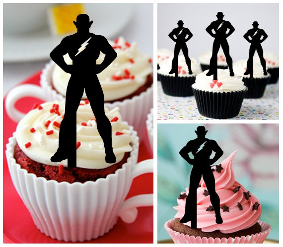 Cp279 cupcake toppers the flash Package : 10 pcs
