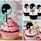 Cp284 cupcake toppers Phantom of the Opera Mask Package : 10 pcs