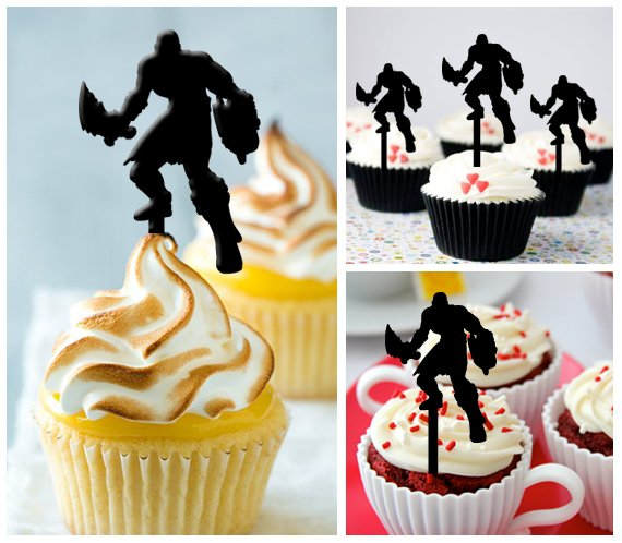 Cp302 cupcake toppers god of war Package : 10 pcs