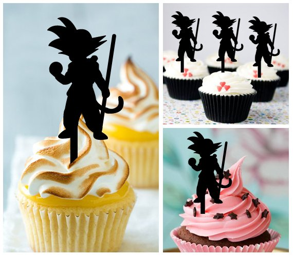 Cp320 cupcake toppers dragon ball z Package : 10 pcs