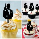 Cp321 cupcake toppers james bond 007 Package : 10 pcs
