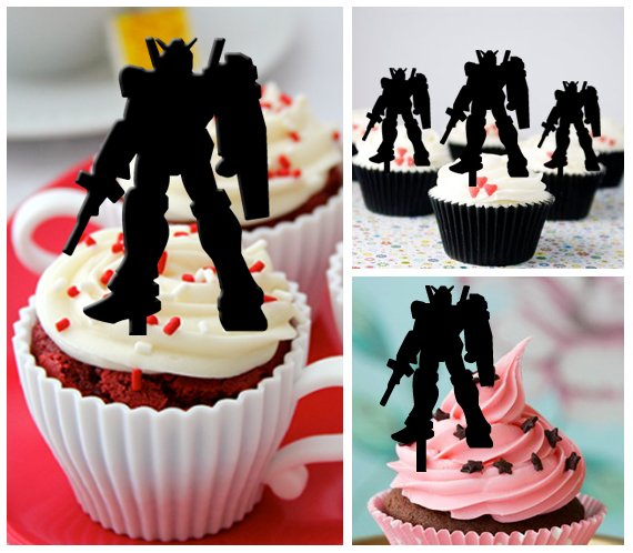 Cp323 cupcake toppers gundam Package : 10 pcs