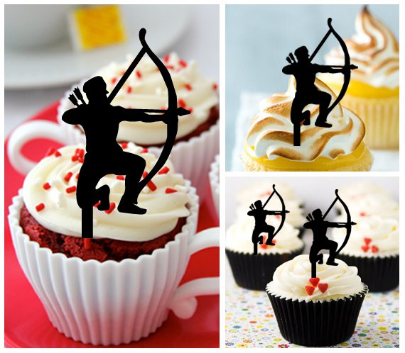 Cp331 cupcake toppers archer and arrow Package : 10 pcs