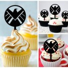 Cp333 cupcake toppers Avengers S.H.I.E.L.D Package : 10 pcs