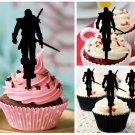 Cp350 cupcake toppers The Witcher Wild Hunt Package : 10 pcs