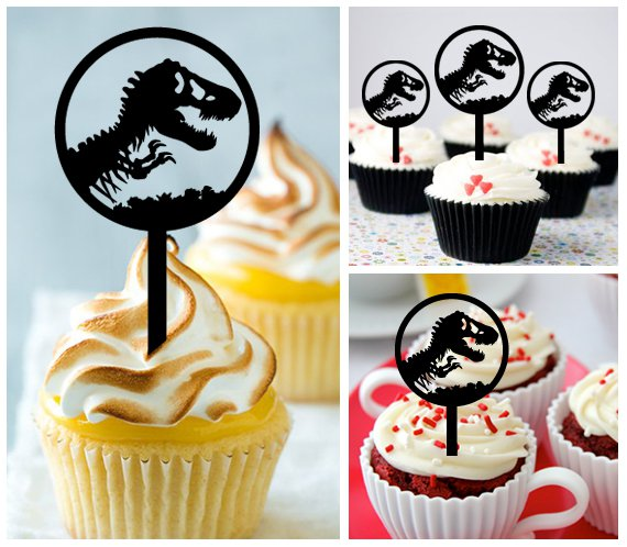 Cp364 cupcake toppers jurassic world Package : 10 pcs