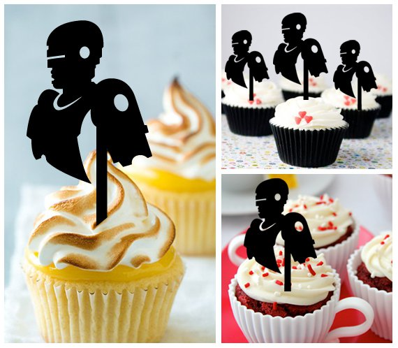 Cp368 cupcake toppers robocop Package : 10 pcs