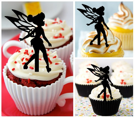 Cp446 cupcake toppers tinkerbell Package : 10 pcs