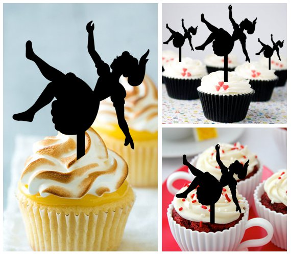 Cp449 cupcake toppers Alice In Wonderland Package : 10 pcs