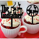 Mo8 cupcake toppers the godfather Package : 10 pcs