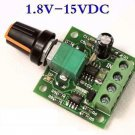2A Motor Speed Switch Controller PWM 1803BK+self-recovery Fuse DC 1.8V 3V 5V 6V