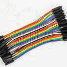 2pcs 40pcs Dupont 10CM Male To Male Jumper Wire Ribbon Cable for Breadboard