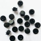 100pcs Black Round Tactile Button Caps For 12×12×7.3mm Tact Switches