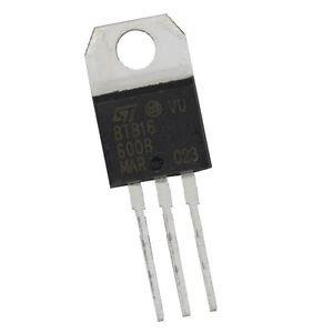 5 PCS BTB16-600B BTB16-600 ST TO-220 Triac 600V 16A NEW