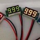 """0.36"""" DC Digital Voltmeter Panel Mount LED Voltage Volt meter Yellow 2.60~30V"""