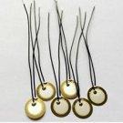 50PCS 12mm Piezo Elements Sounder Sensor Trigger Drum Disc + wire copper