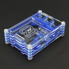 1PCS Blue Raspberry Pi 3 B+ Model Transparent Sliced Acrylic Case Enclosure Box