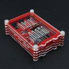 1PCS Red Raspberry Pi 3 B+ Model Transparent Sliced Acrylic Case Enclosure Box