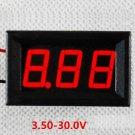 0.56'' 3.5V-30V Variable Precision Digital Voltmeter Red Color
