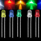 100PCS 3mm Lots LED Emitting Diode Light Bulb Lamp White Green Red Blue Yellow